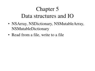 Chapter 5  Data structures and IO