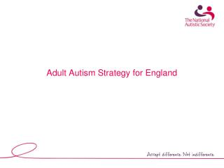 Adult Autism Strategy for England