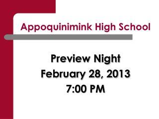 Appoquinimink High School