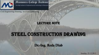 Lecture note  Steel Construction Drawing