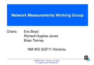 Network Measurements Working Group