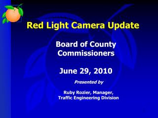 Red Light Camera Update