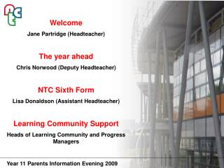 Welcome Jane Partridge (Headteacher) The year ahead  Chris Norwood (Deputy Headteacher)