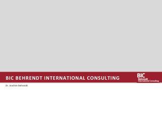 BIC Behrendt INTERNATIONAL CONSULTING