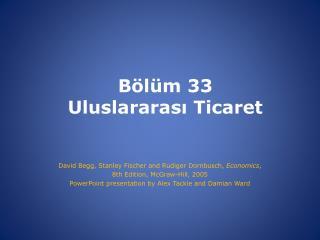 Bölüm  33 Uluslararası Ticaret