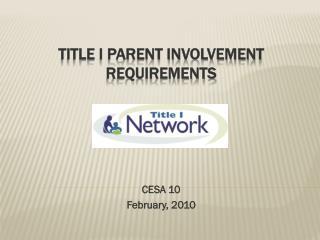 Title I Parent Involvement Requirements