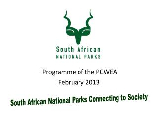 Programme of the PCWEA February  2013