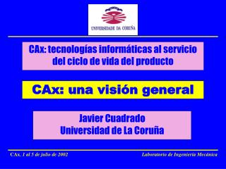 CAx: una visi n general