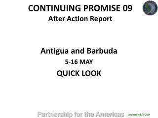 CONTINUING PROMISE 09 After Action Report