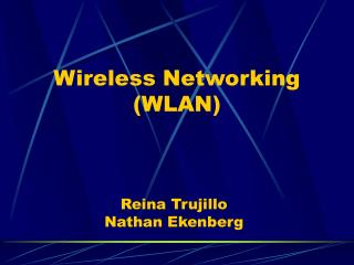 Wireless Networking (WLAN)