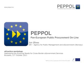 PEPPOL Pan-European Public Procurement On-Line