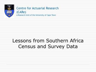 Lessons from Southern Africa Census and Survey Data