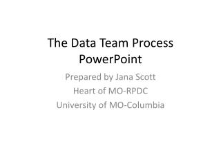 The Data Team Process PowerPoint