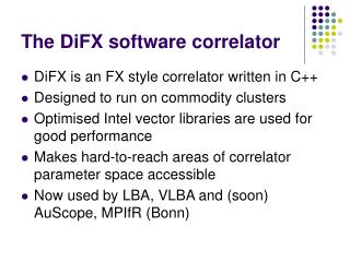 The DiFX software correlator