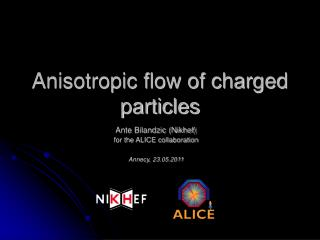Anisotropic flow of charged particles