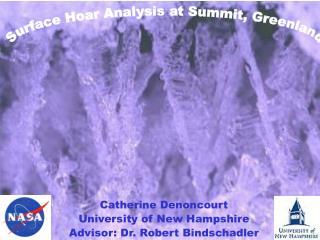Surface Hoar Analysis at Summit, Greenland