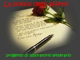 La poesia degli affetti