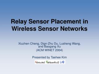 Relay Sensor Placement in Wireless Sensor Networks