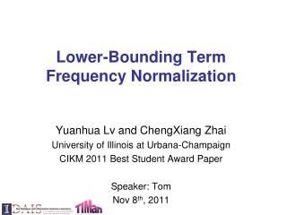Lower-Bounding Term Frequency Normalization