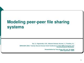 Modeling peer-peer file sharing systems