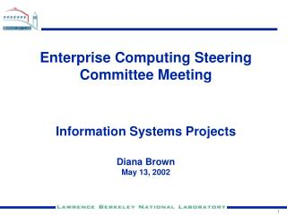 Enterprise Computing Steering Committee Meeting