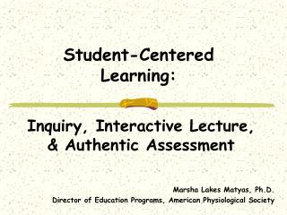 Student-Centered Learning: