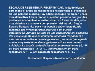 ESCALA DE RESISTENCIA – RECEPTIVIDAD