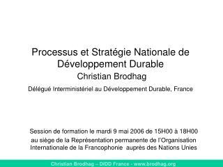 Session de formation le mardi 9 mai 2006 de 15H00 à 18H00