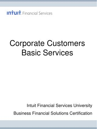 Corporate Customers Basic Services