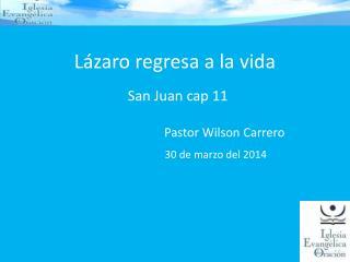Lázaro regresa a la vida