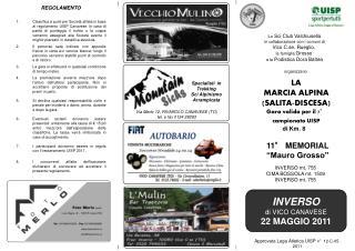 Lo  Sci Club Valchiusella in collaborazione con i comuni di Vico C.se, Rueglio,