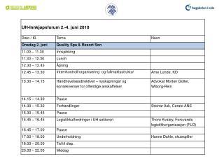 Presentasjon program