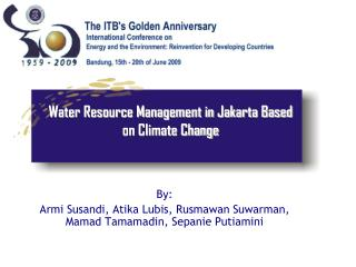Water Resource Management in Jakarta Based on Climate Change