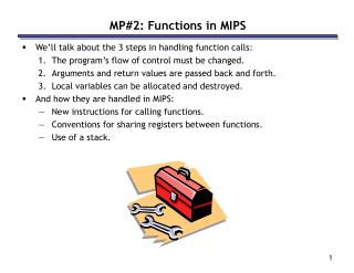 MP2: Functions in MIPS
