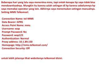 web Setting MMS Telkomsel MUH MIFTAHUL ULUM