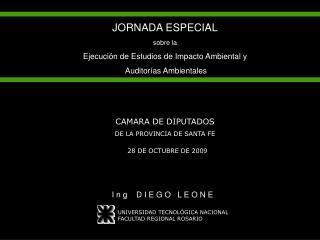 JORNADA ESPECIAL sobre la Ejecución de Estudios de Impacto Ambiental y  Auditorías Ambientales