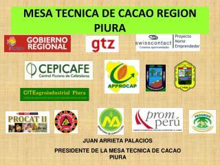 MESA TECNICA DE CACAO REGION PIURA