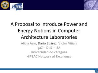 A Proposal to Introduce Power and Energy Notions in Computer Architecture Laboratories