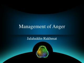 Management of Anger