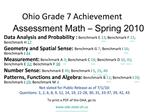 Ohio Grade 7 Achievement Assessment Math   Spring 2010