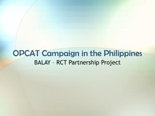 OPCAT Campaign in the Philippines