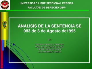 UNIVERSIDAD LIBRE SECCIONAL PEREIRA FACULTAD DE DERECHO DIPP