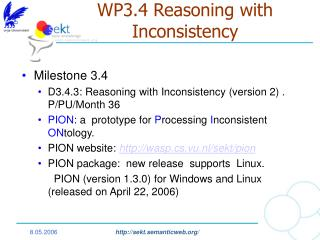WP3.4 Reasoning with Inconsistency