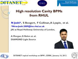 High resolution Cavity BPMs  from RHUL