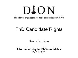 PhD Candidate Rights