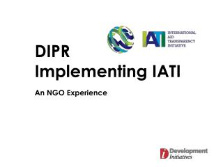 DIPR Implementing IATI