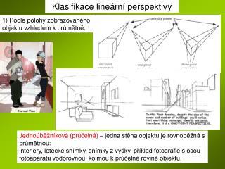 Klasifikace lineární perspektivy