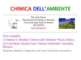 CHIMICA DELL' AMBIENTE