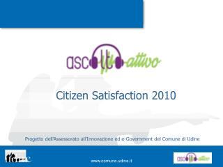 Citizen Satisfaction 2010