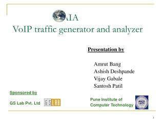 GAIA  VoIP traffic generator and analyzer